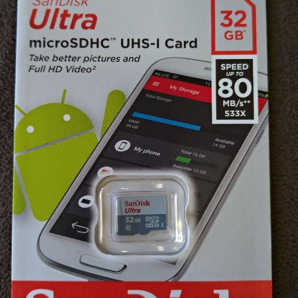 Cartão sd 32gb + mini câmera