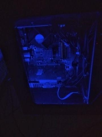 Computador intel 3.0 pc gamer azul + placa de vídeo