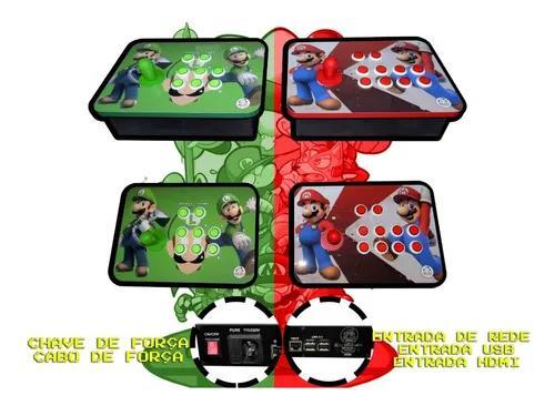 Fliperama portátil duplo controles separados 20 mil jogos