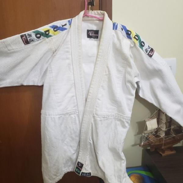 Kimono de judô yamarashi branco novo tamanho a2