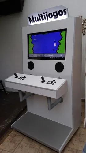 Maquina fliperama multijogos 32 polegadas arcade 5000 jogos