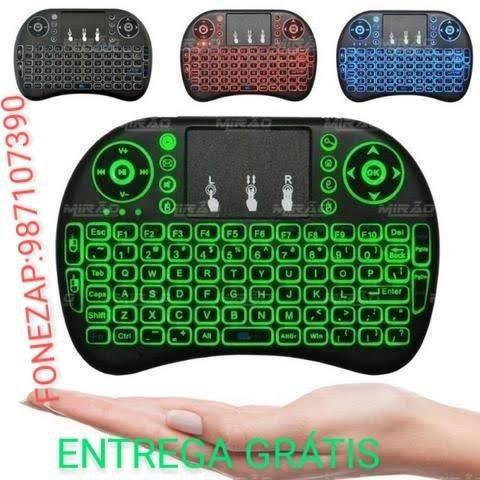 Mini teclado wireless keyboaed com led (entrega grátis)
