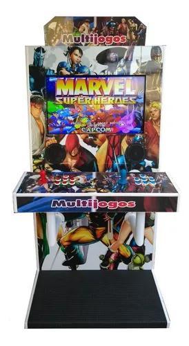 Máquina multijogos tela 28 adesivada 2600 jogos pronta entr