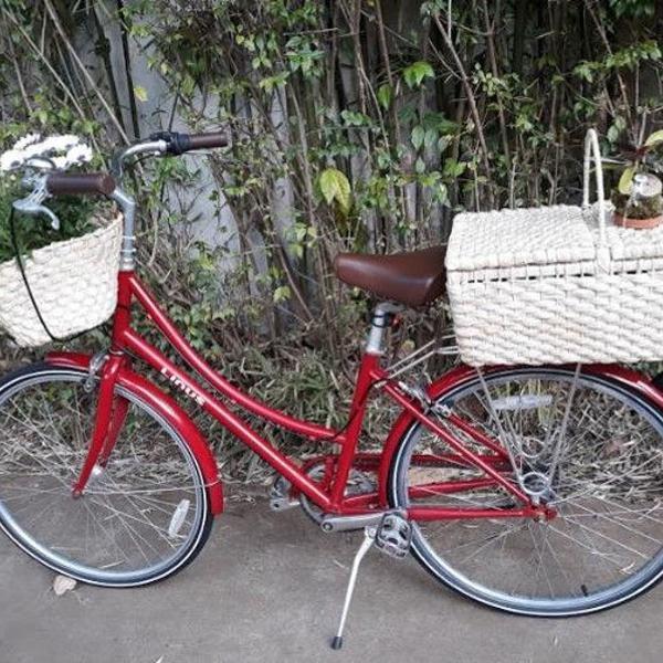 Bicicleta linus vermelha