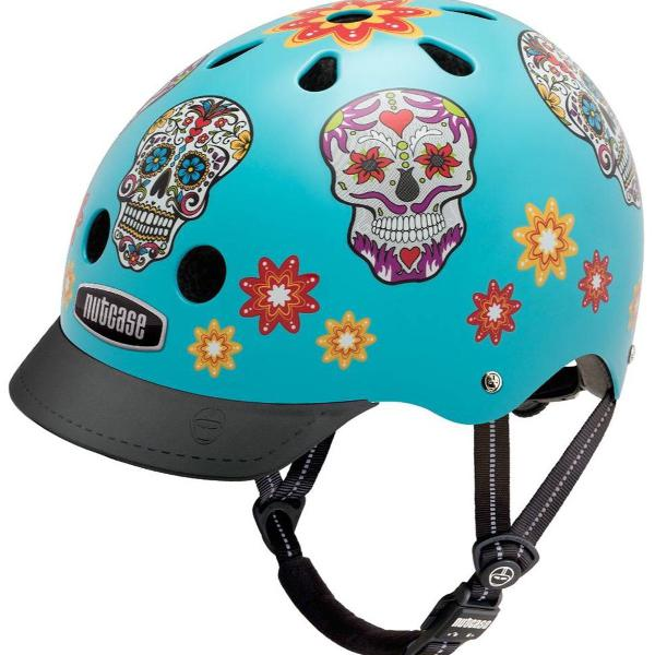 Capacete bike nutcase caveira mexicana