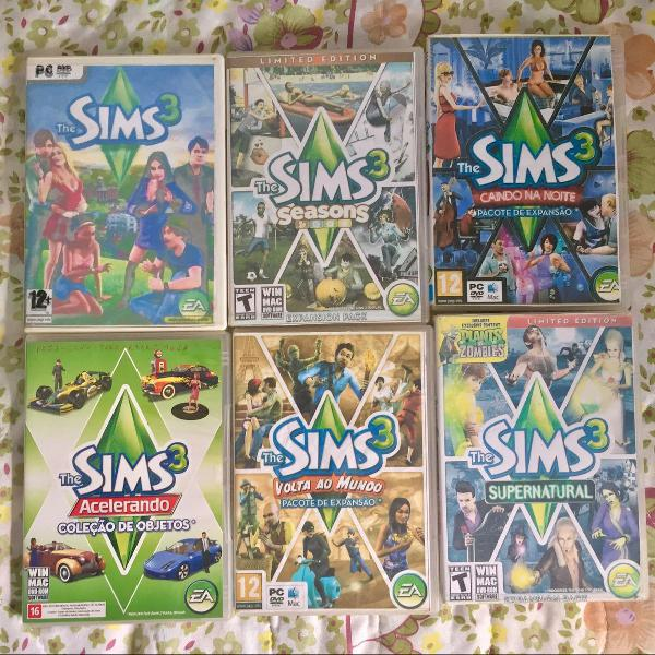 Jogos pc/notebook the sims 3 + expansões