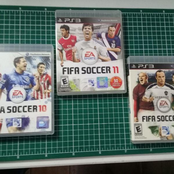Kit - 3 jogos ps3 - fifa soccer 2010 + fifa soccer 2011 +