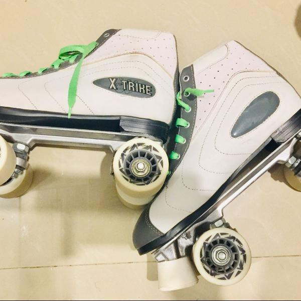 Kit patins 4 rodas traxart x trike novo + protetores
