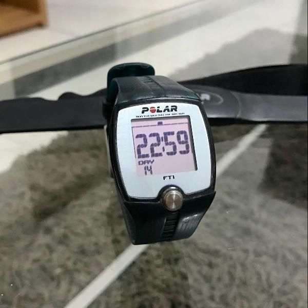 Monitor cardíaco/frequencímetro polar ft1 com cinta