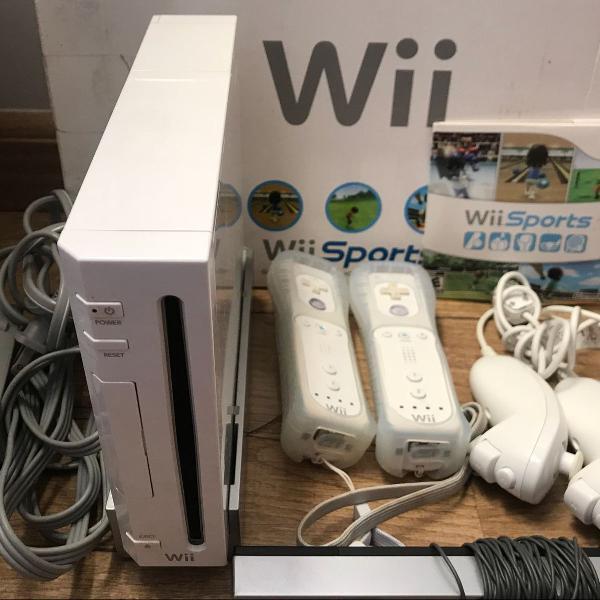 Nintendo wii completo original + controle e nunchuck extra