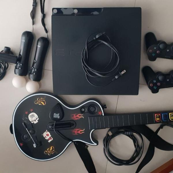 Playstation 3 slim 120gb, mais itens