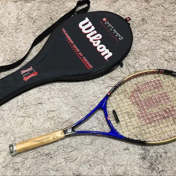 Raquete de tênis wilson titanium soft shock system