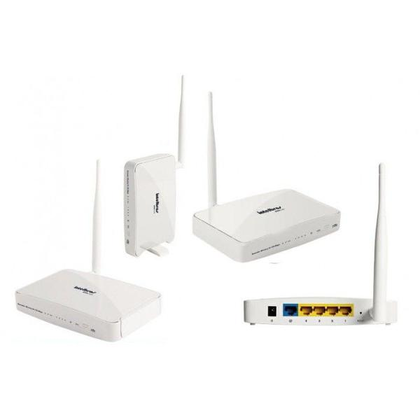 Roteador intelbras 150mbps wrn 240i + cabos de rede e