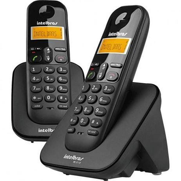 Telefone mais ramal sem fio com agenda, bloqueio de teclado