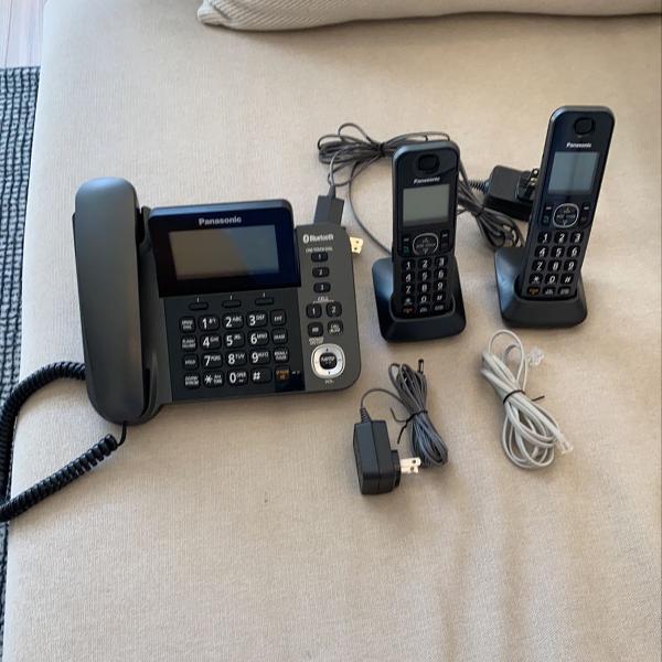 Telefone panasonic com dois ramais sem fio