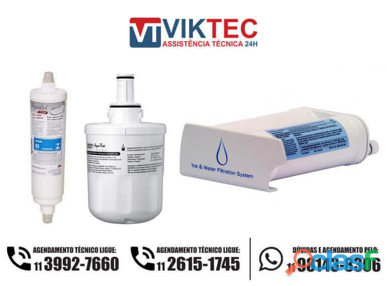 Troca de filtro e higienização de refrigeradores e geladeiras