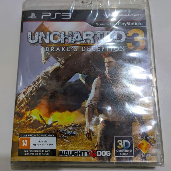 Uncharted 3: drakes deception para ps3 - novo lacrado