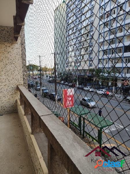 Apartamento - 2 dorm - sacada frente para avenida - boqueirão santos