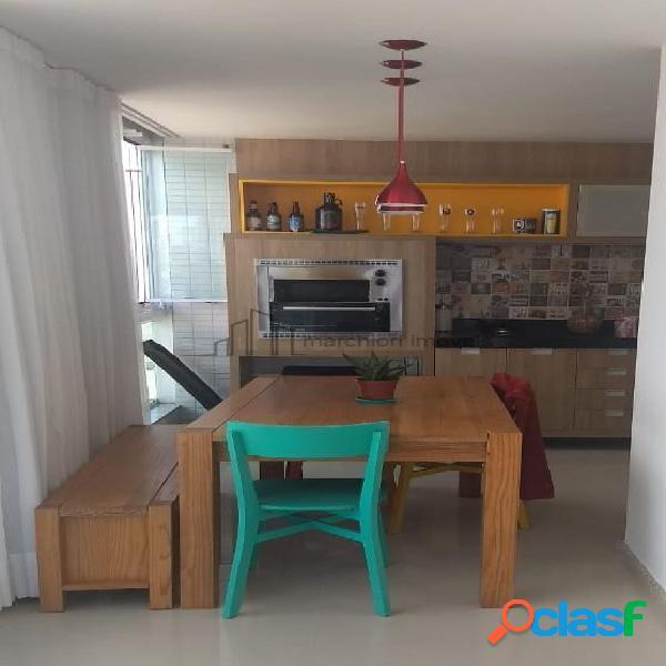 Apartamento 3 quartos, montado. varanda gourmet alto padrão