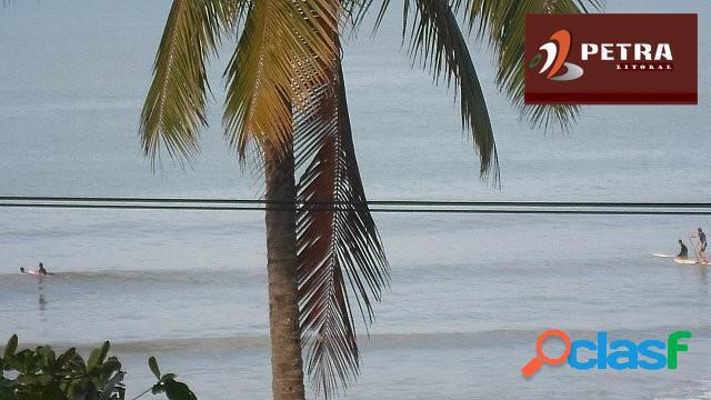 Apartamento a venda no guarujá, praia das pitangueiras de frente para o mar