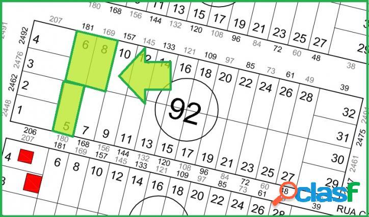 Terrenos no loteamento são jose-360,00m² cada