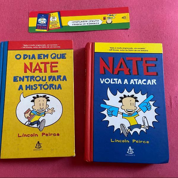 2 livros da coleção nate
