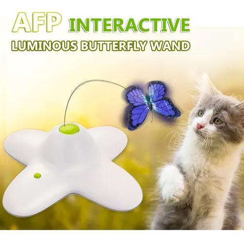 All for paws borboleta luminosa varinha interativa brinquedo