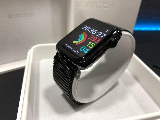 Apple watch 42mm cerâmica + vidro de cristal de safira