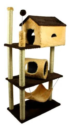 Arranhador apartamento brinquedo interativo para gato ap06