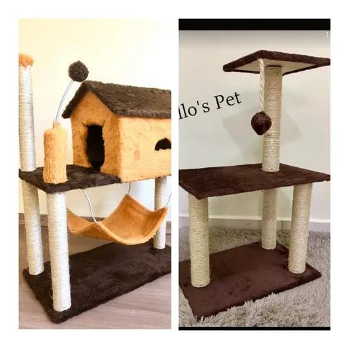 Arranhador gato casa rede+ 3 bases