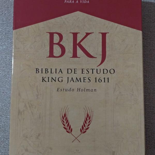 Bíblia de estudo king james 1611 nova