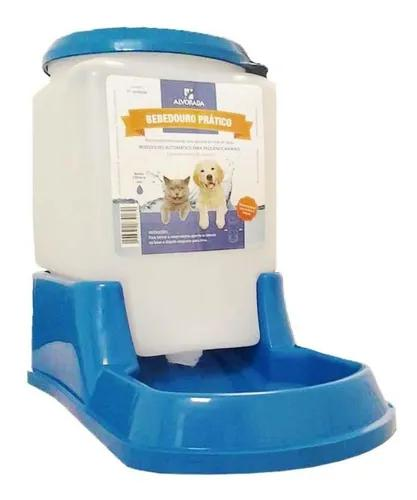 Bebedouro prático automático cães e gatos azul alvorada