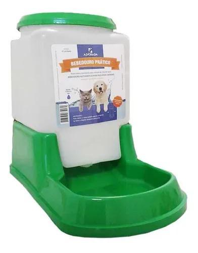 Bebedouro prático automático cães e gatos verde alvorada