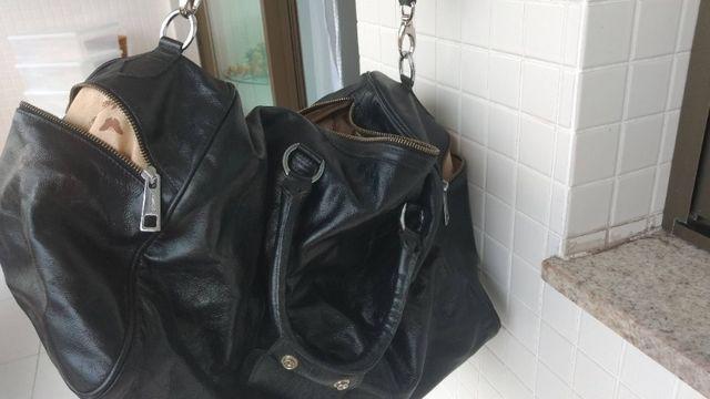 Bolsa de viagem em couro