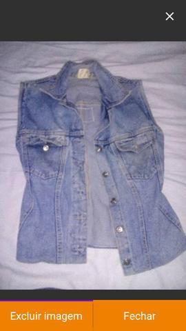 Colete r$ 19,99 jeans nova original