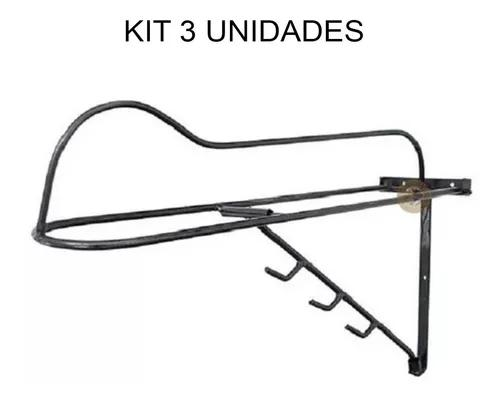 Conjunto 3 suportes de sela e arreio reforçado de ferro