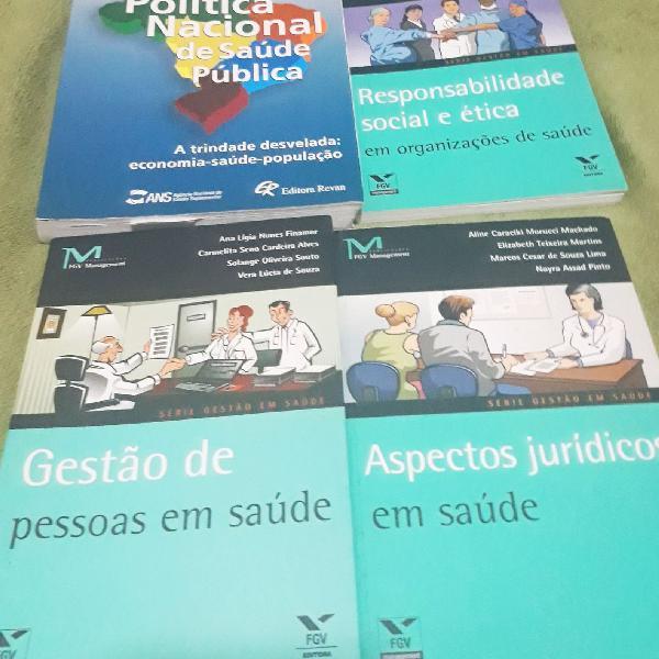 Fgv livros série gestão em saúde + livro política