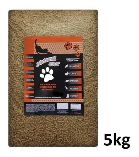 Granulado higiênico de madeira natural cat - 5kg
