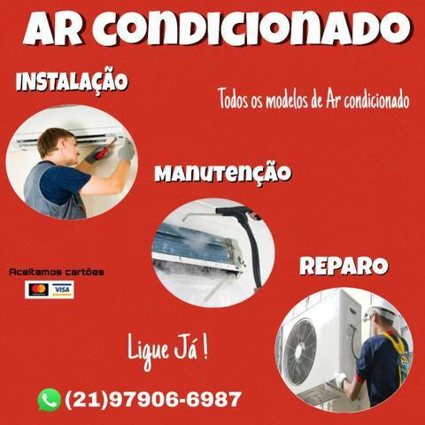 Instalação, manutenção e reparo ar condicionado split