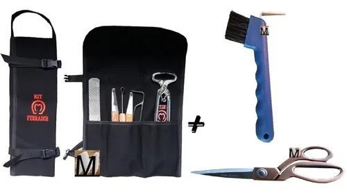 Kit ferrador casqueamento / cavalo + ranilha + tesoura inox