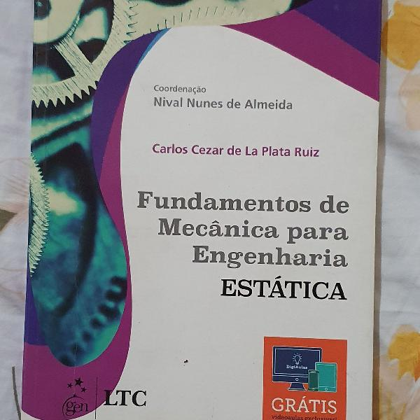 Livro fundamentos de mecânica para engenharia - estática -