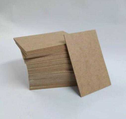 Placas em mdf cru e branca 3mm a4