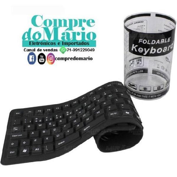 Teclado flexível silicone resistente água usb notebook pc