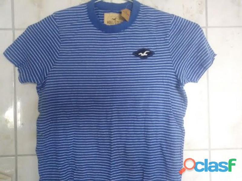 Camiseta hollister listrada tamanho m