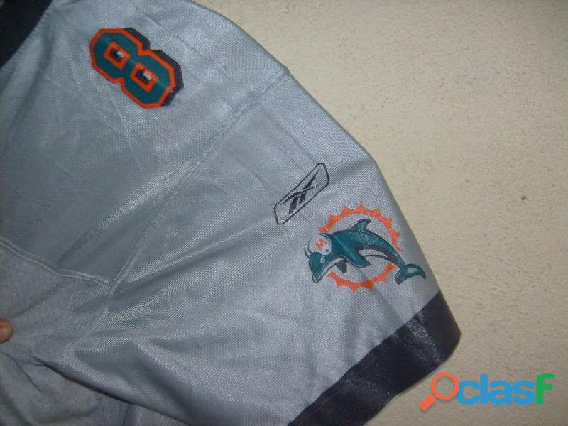 Jersey Nfl Futebol Americano Reebok Dolphins Swingman Tamanho M 1