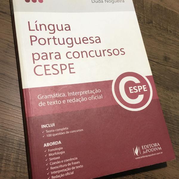 Lingua portuguesa para concursos cespe