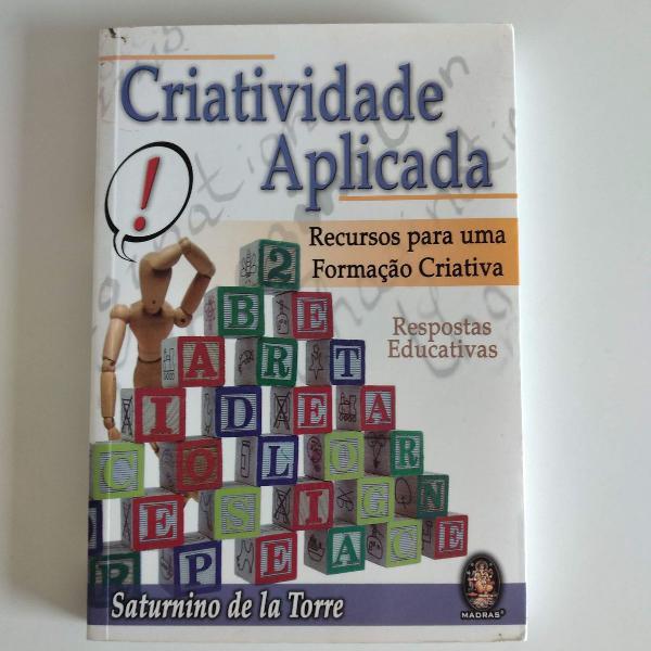 Livro criatividade aplicada - recursos para uma formação