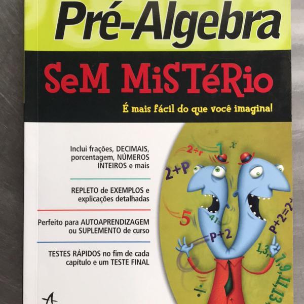 Livro pré álgebra sem mistério