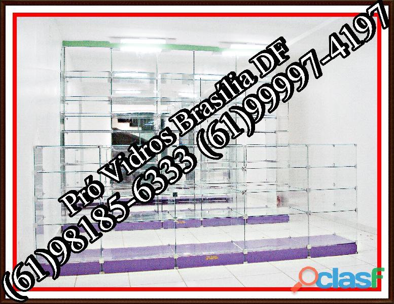Prateleira de vidro samambaia,(61)98185 6333,em samambaia,brasília,df,entorno