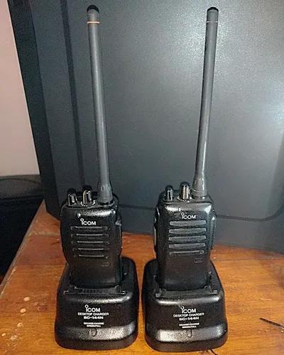 2 rádios icom ic-f12 vhf profissional de 136 a 174 mhz